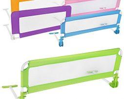 TecTake-Barrire-de-Lit-pour-Bb-Enfant-Portable-102cm-diverses-couleurs-au-choix-Vert-0-1