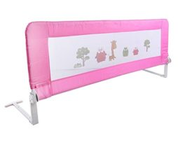 150180cm-Barrires-de-Lit-Enfants-Bbs-Protection-Bord-de-Lit-pour-Scurit-des-Enfants-Bbs-Motif-Alatoire-180cm-Rose-0