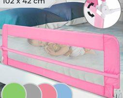 Barrire-de-Lit-pour-Enfant-Choix-de-Couleur-Pliable-et-Portable-Taille-10242cm-Installation-Facile-Garde-de-Scurit-Barrires-de-lit-pour-bb-0