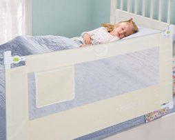 Ejoyous-150-x-60-cm-Barrire-de-Lit-Pour-Enfants-Portable-Pliable-Barrire-de-Scurit-Anti-Falling-Lit-pour-Protection-De-Bb-Beige-0