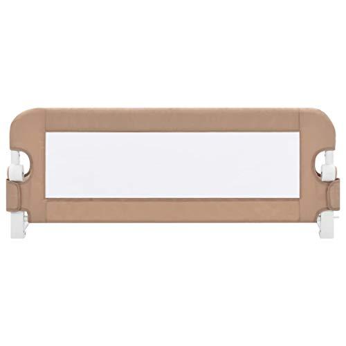 vidaXL-Barrire-de-Lit-Enfant-Rail-de-Lit-de-Scurit-Pliable-Barrire-de-Protection-Bb-Chambre–Coucher-Taupe-120×42-cm-Polyester-0